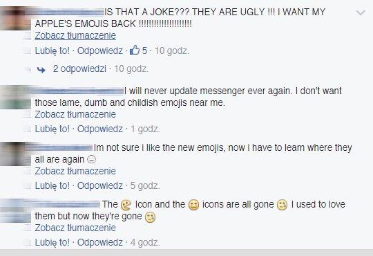 Nowe ikony Facebooka nie wszystkim się podobają