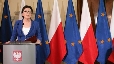 Dymisje w rządzie po aferze taśmowej. 10 czerwca 2015 r. Premier Ewa Kopacz.