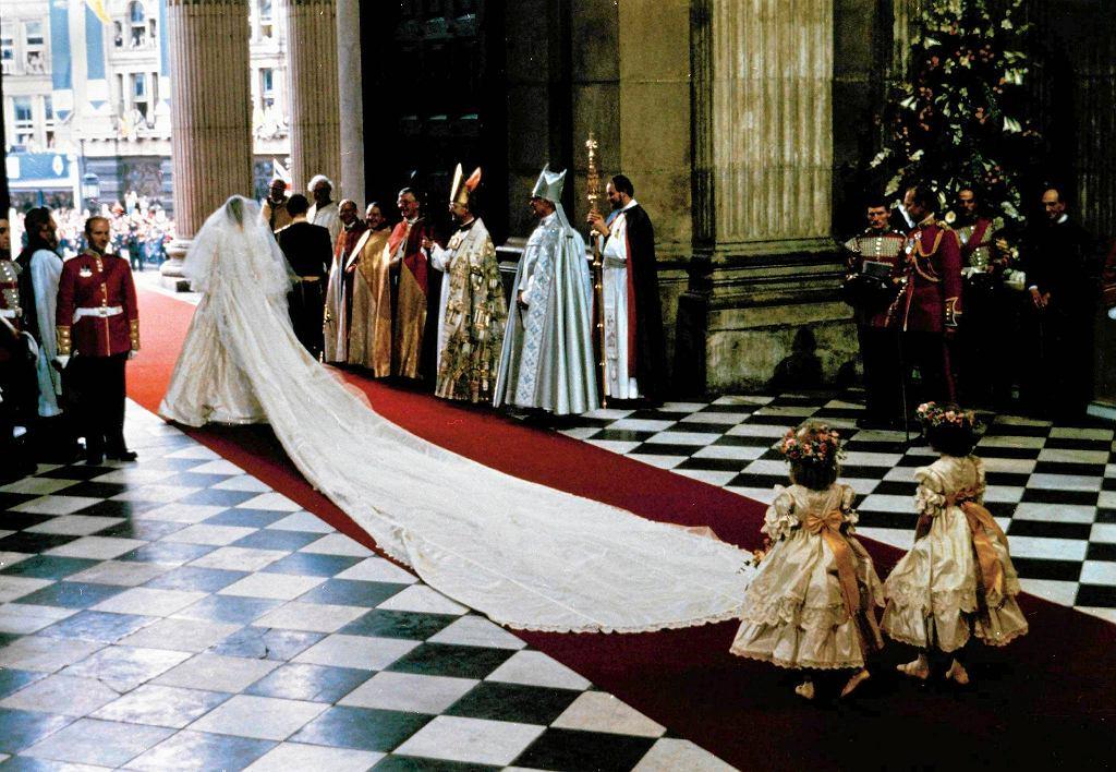 Ślub Diany Spencer i księcia Karola. Katedra świętego Pawła, Londyn, 29 lipca 1981