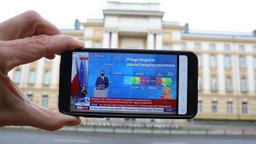 Konferencja premiera Mateusza Morawieckiego na temat kolejnych obostrzeń