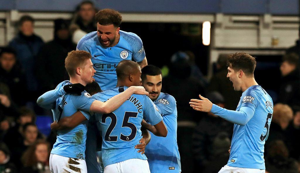 Everton - Manchester City. 'Obywatele' liderami Premier League