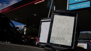Braki paliwa na stacjach w Wielkiej Brytanii