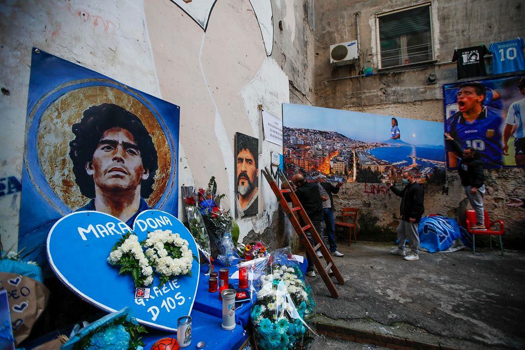 Dzielnica Hiszpańska w Neapolu. Jeden z mnóstwa w tym mieście zakątków upamiętniających Diego Maradonę