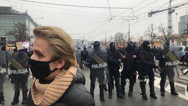 Posłanka Scheuring-Wielgus zaatakowana na proteście w Warszawie
