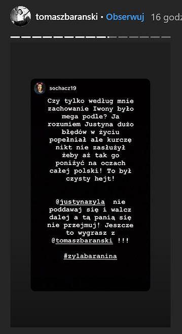 Post z Instagrama Tomasza Barańskiego