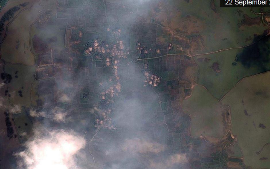 Wioska Hpar Wat Chaung na  północny Mjanmy