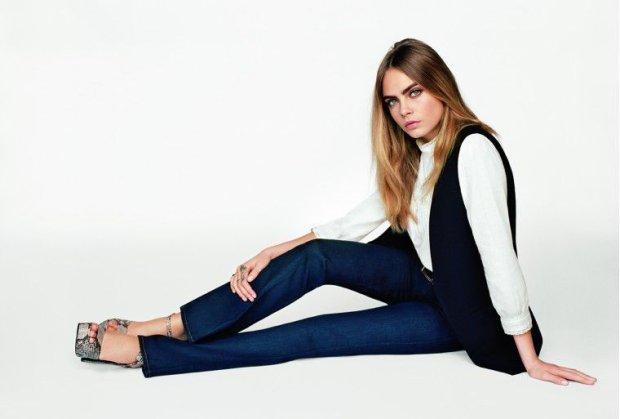 Cara Delevingne w kampanii Topshop wiosna-lato 2015