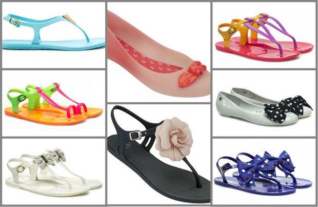 Gumowe buty - na plażę i nie tylko