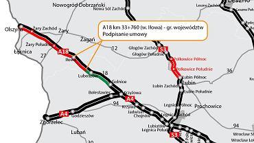 DK18/A18, Iłowa - Golnice