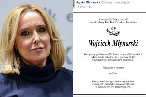 Agata Młynarska poinformowała na Facebooku o dacie pogrzebu ojca