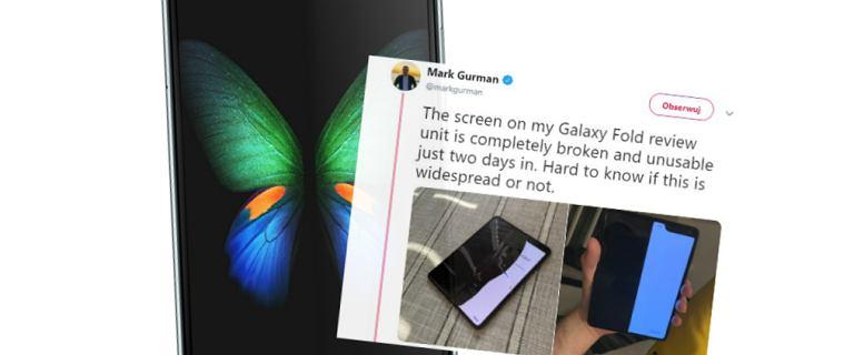Składane ekrany w Samsungu Galaxy Fold nie są wytrzymałe