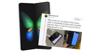 Samsung Galaxy Fold ma problemy z trwałością