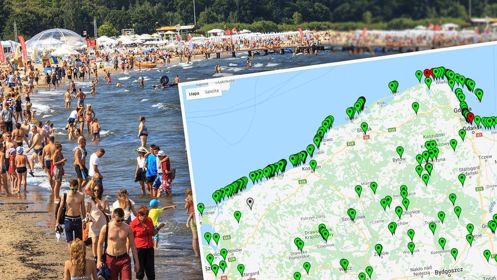 Na interaktywnej mapie sprawdzisz, czy w danym miejscu w Polsce można się kąpać