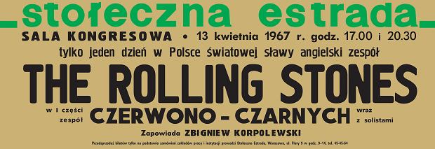 Plakat promujący koncert Rolling Stonesów
