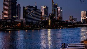 Dzielnica bankowa Frankfurtu, 22 marca 2020 r.