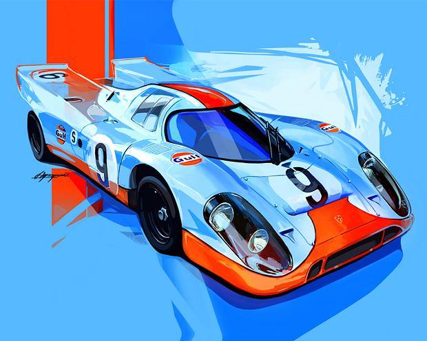 Porsche 917 namalowane przez Łukasza Myszyńskiego