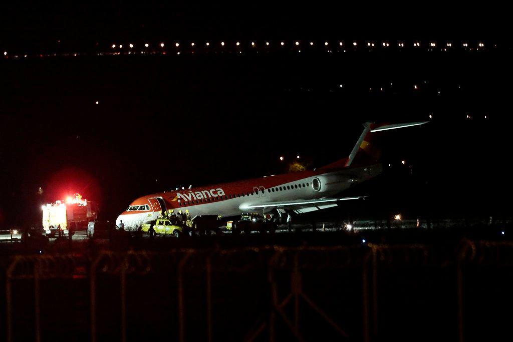 Awaryjne lądowanie samolotu