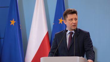 BKonferencja prasowa w Warszawie minister rozjowu Jadwigi Emilewicz