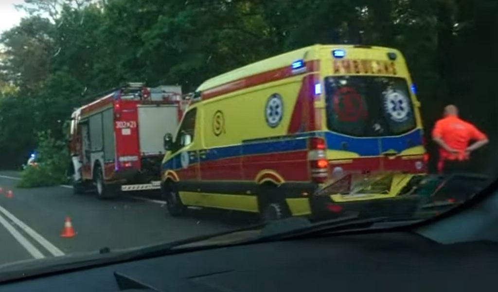 Wypadek pod Bydgoszczą