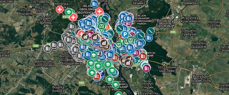 Władze Kijowa opublikowały mapę schronów