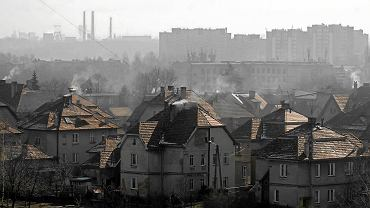 Smog nad Rybnikiem. Zdjęcie z marca 2011 r.
