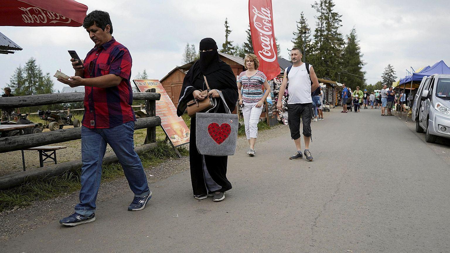 Turyści z krajów arabskich chętnie podziwiają Gubałówkę