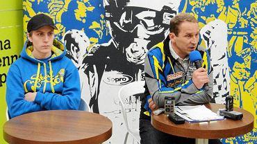 Trener Stal Gorzów Piotr Paluch i Szwed Linus Sundstrom