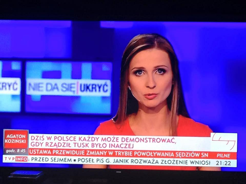 Ewa Bugała na antenie TVP Info