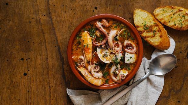 Minorka, caldereta -zupa zowoców morza