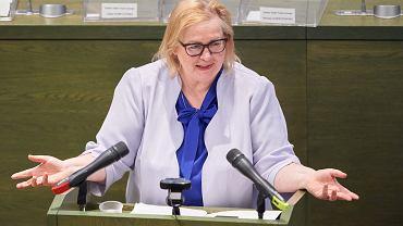 Małgorzata Manowska podczas zgromadzenia ogólnego sędziów Sądu Najwyższego. Warszawa, 23 maja 2020