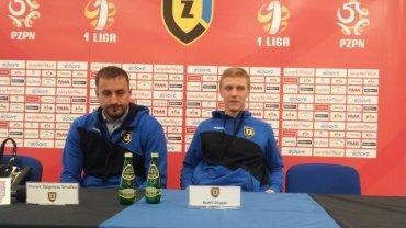 Trener Zbigniew Smółka i Kamil Drygas