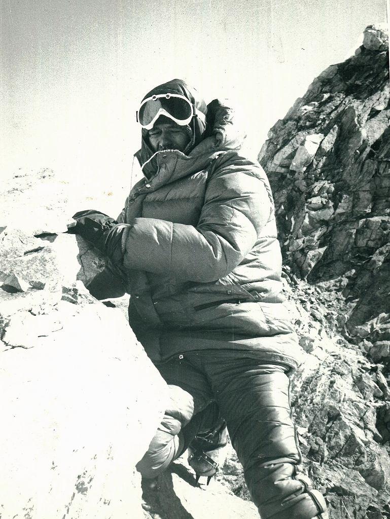 Ryszard Gajewski na szczycie Manaslu (fot. archiwum Ryszarda Gajewskiego)