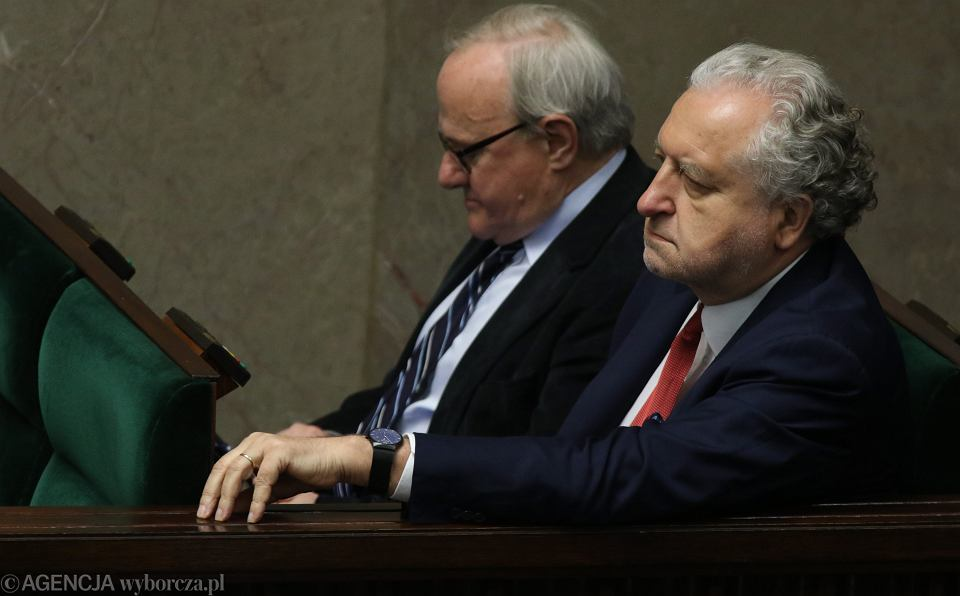 Stanisław Biernat i Andrzej Rzepliński w Sejmie