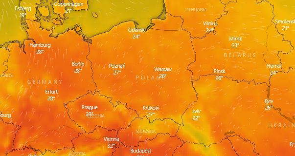 Pogoda. Wyż Xandra przyniesie do Polski kolejną falę upałów