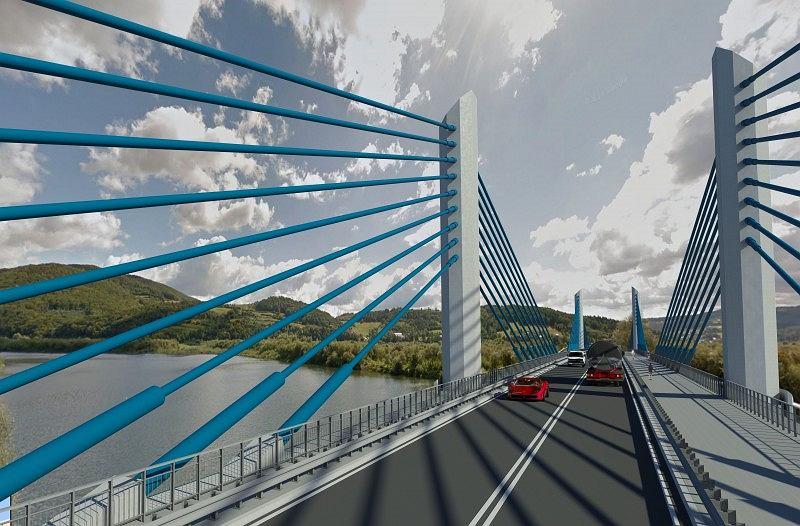 Wizualizacja mostu w Nowym Sączu, GDDKiA