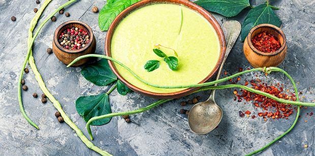 Zupa-krem z fasolki szparagowej.
