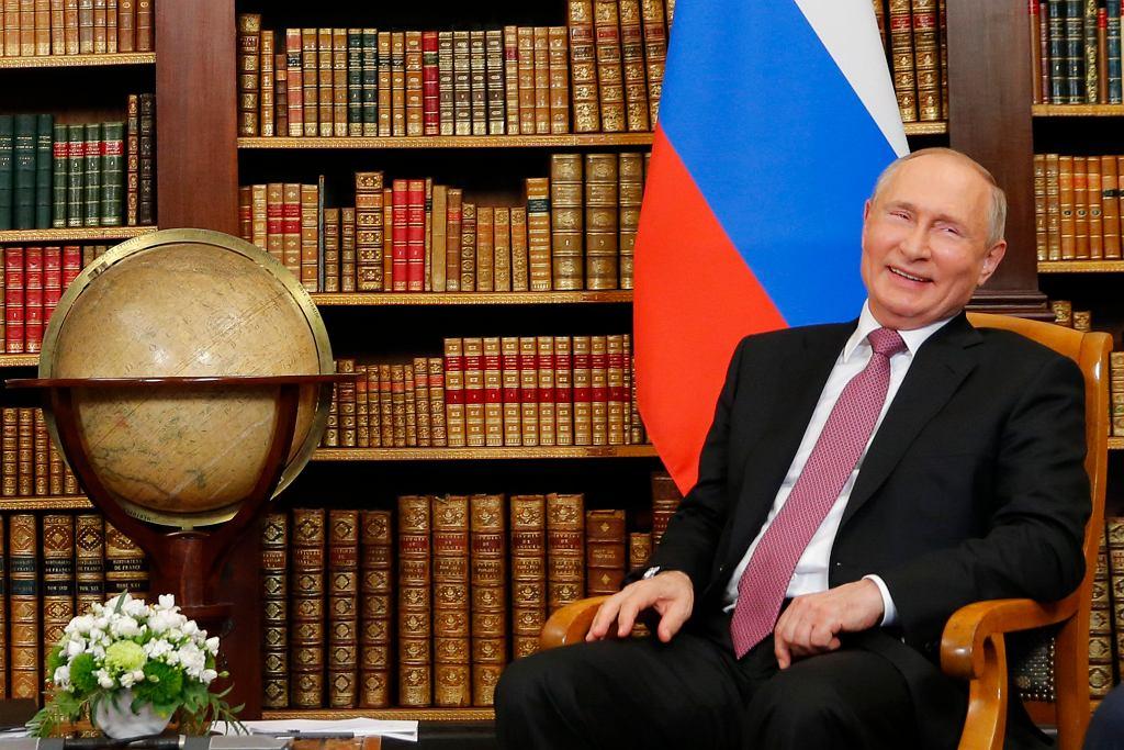 Władimir Putin podczas spotkania z Joe Bidenem