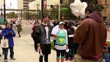 ślub podczas maratonu w Detroit