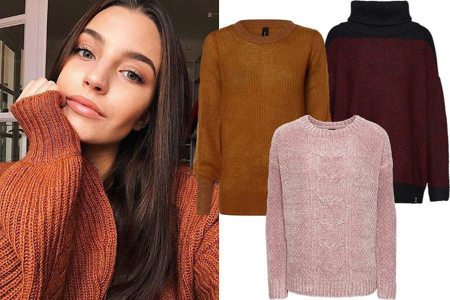 ciepłe klasyczne swetry damskie / mat. partnera
