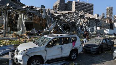 Liban. Skutki wybuchu w porcie w Bejrucie