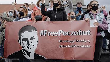 29.05.2021, Warszawa, pikieta solidarności z Białorusią.
