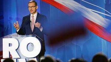 Premier Mateusz Morawiecki na konwencji wyborczej PiS w Katowicach, 21.09.2019
