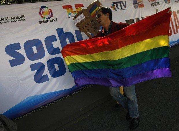 Protest przeciwko represjom wobec gejów w Rosji