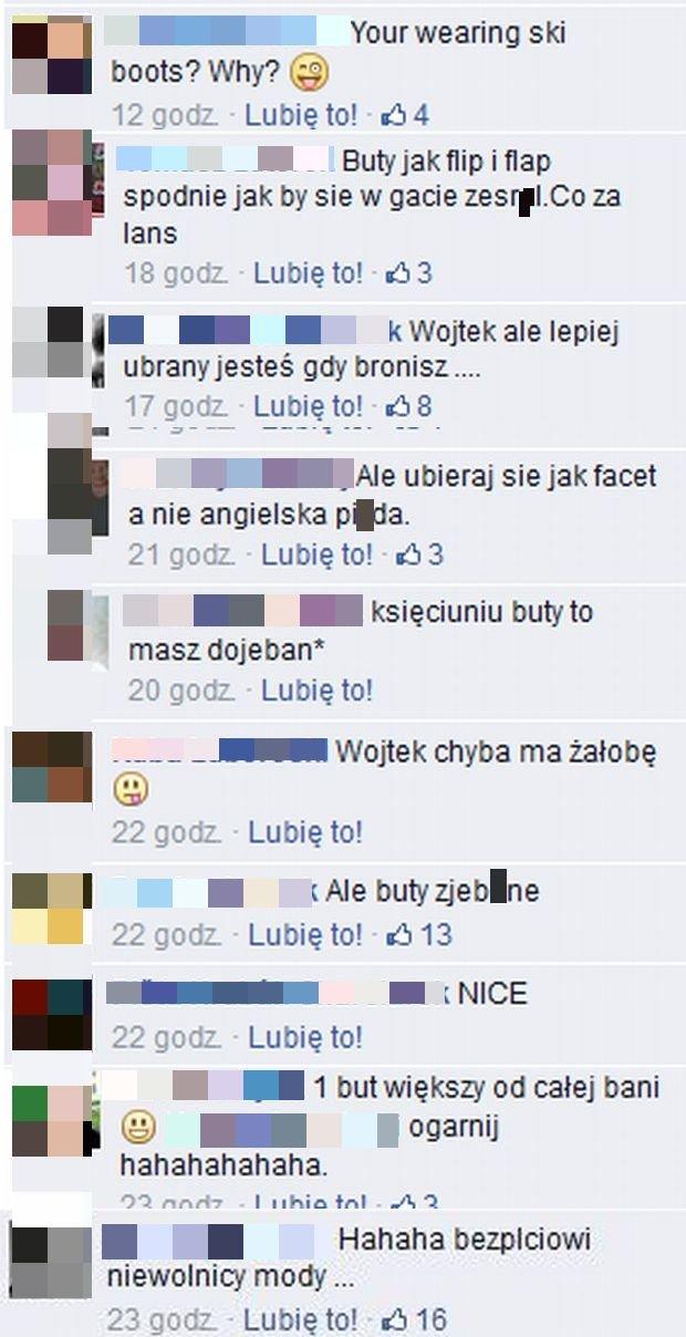 Komentarze na profilu Wojciecha Szczęsnego