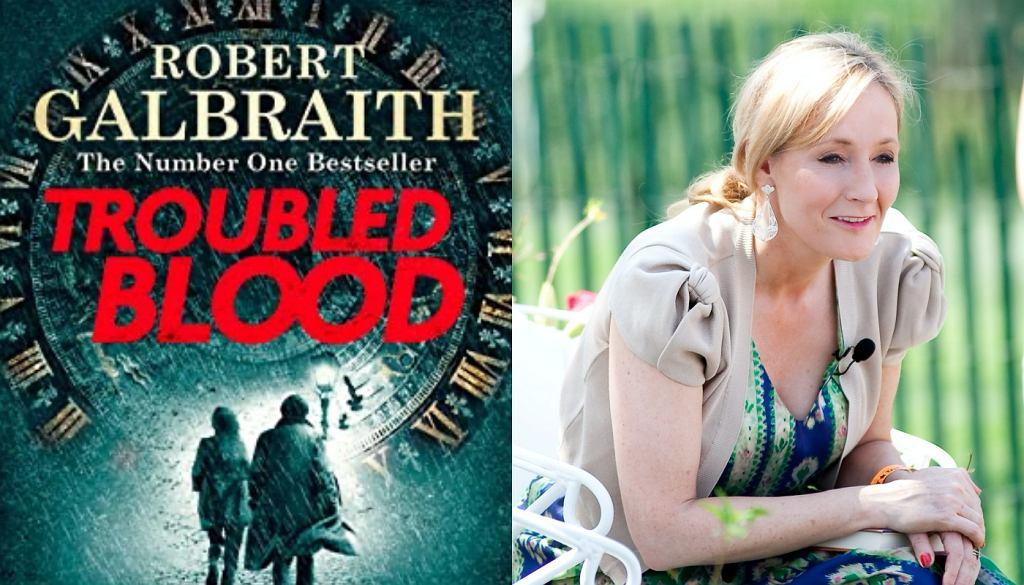 J.K. Rowling/okładka książki Troubled Blood