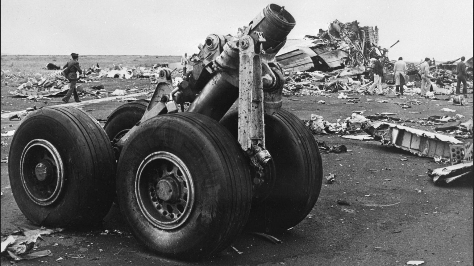 Miejsce katastrofy na lotnisku na Teneryfie