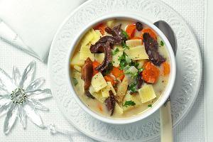 Zupa grzybowa złazankami