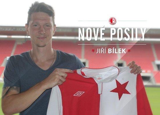 Jiri Bilek w Slavii Praga