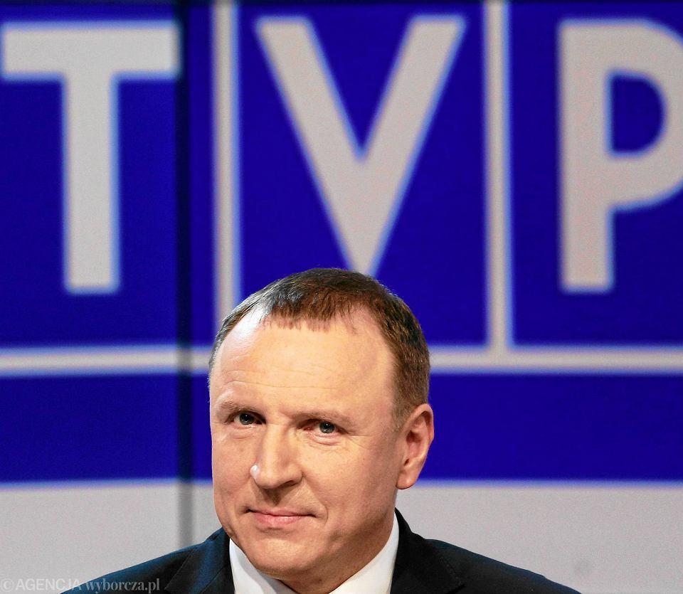 Telewizja Polska jest głównym beneficjentem abonamentu RTV. Na zdjęciu obecny prezes TVP Jacek Kurski