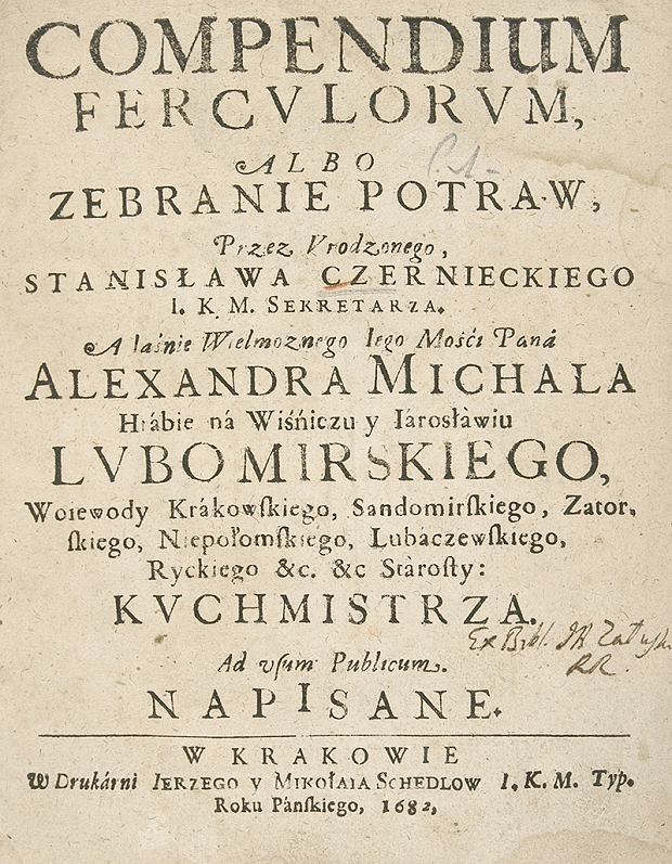 Compendium ferculorum Stanisława Czernieckiego